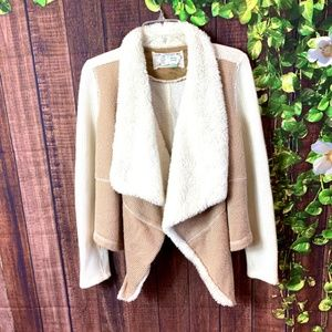 Anthropologie: Neutral Boho Waterfall Cardigan